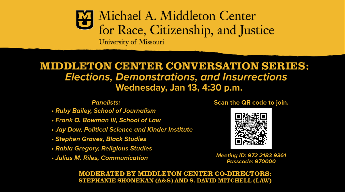 The Middleton Center presents a free webinar on the events of January 6, 2020.